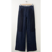 NEW Levi's Double Button Wide Leg Jeans in Premium Fabric Women's 25