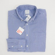 Gap Lived-In Wash Multi-Checkered Shirt in Aqua and Purple Men's Small