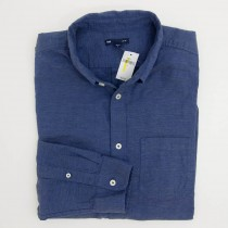 Gap Heathered Oxford Slim Fit Shirt in Blue