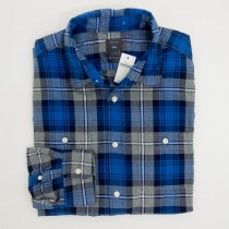Gap Plaid Flannel Shirt in Blue Plate