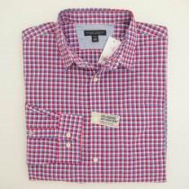 NEW Banana Republic Shadow Gingham Soft-Wash Shirt Coronada XL 17-17.5