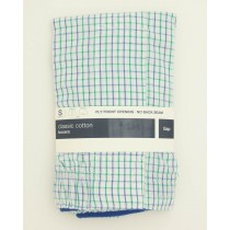 NEW Gap Classic Cotton Crawford Tattersall Boxers in Blue