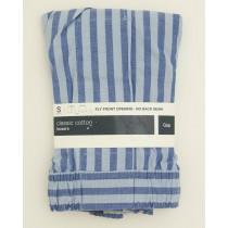 NEW Gap Classic Cotton Ian Stripe Boxers in Blue Men's Small (30-31)