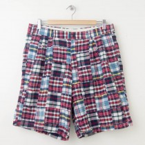 Jos A Bank Patchwork Plaid Madras Shorts Men's 34R