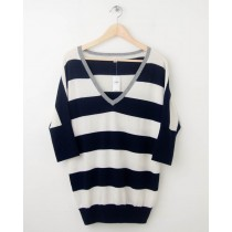 NEW Gap Striped Dolman-Sleeve Sweater in Navy Uniform