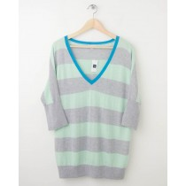 NEW Gap Striped Dolman-Sleeve Sweater in Icy Mint