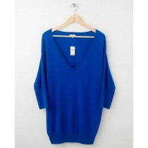 NEW Gap Solid Dolman-Sleeve Sweater in Blue Streak