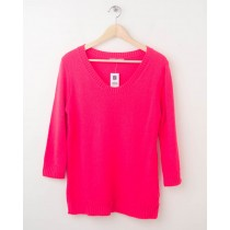 NEW Gap Neon Solid Pullover Sweater in Diva Pink Women's Small