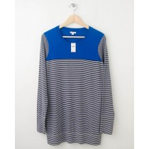 NEW Gap Colorblock Striped Tunic Sweater in Blue Streak