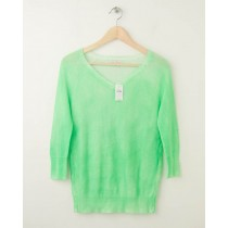 NEW Gap Neon Raglan V-Neck Sweater in Mint Green