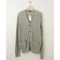 NEW Gap Band of Stripes Cardigan Sweater in Silver