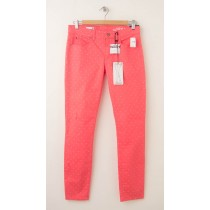 NEW Gap 1969 Polka Dot Legging Skimmer Jeans in Coral Bells