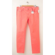 NEW Gap 1969 Always Skinny Skimmer Jeans in Neon Orange Light