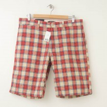 NEW Banana Republic Plaid Shorts in Russet Orange Men's 33