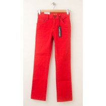 NEW Gap Boy's 1969 Action Stretch Straight Jeans in Sport Orange