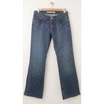 Express X2 W4 Regular Fit Low Rise Boot Leg Jeans Women's 6S - Short