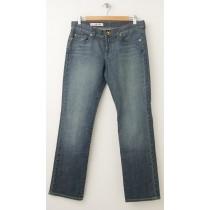 Express X2 Curvy W31 Regular Rise Straight Leg Jeans Women's 6S Short