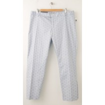 NEW Gap Slim Cropped Print Pants in Geometric Blue