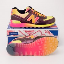 New Balance Women's Rainbow 574 Classics Running Shoes Purple WL574BOW