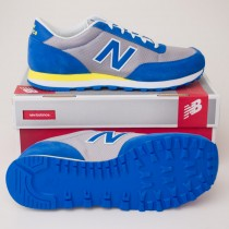 New Balance Men's 501 Classics Running Shoes ML501BGW in Blue/Silver