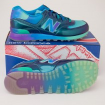 New Balance Men's Rainbow 574 Classics Running Shoes ML574BOW in Blue