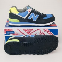 New Balance Men's Yacht Club 574 Classics Running Shoes ML574YCN Black