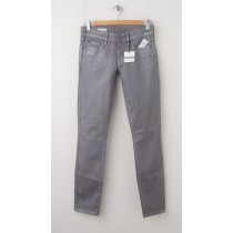 NEW Gap 1969 Always Skinny Skimmer Coated Jeans in Silver
