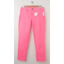 NEW Gap Neon Dye Broken-In Straight Khaki Pants in Diva Pink