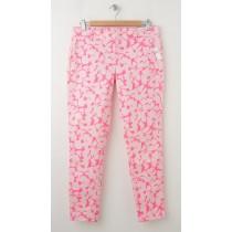 NEW Gap Skinny Mini Skimmer Khaki Pants in Coral Floral Print