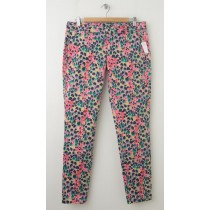 NEW Gap Skinny Mini Skimmer Khaki Pants in Floral Print