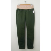 NEW Gap Maternity Demi-Panel Skinny Mini Skimmer Khaki Pants in New Olive