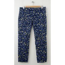 NEW Gap Slim Cropped Pants in Animal Print