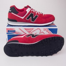 New Balance Men's Varsity 574 Classics Running Shoes ML574VRK in Red