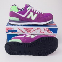New Balance Womens Yacht Club 574 Classic Running Shoe Purple WL574YCK