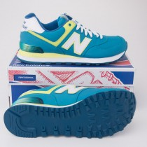New Balance Women's Alpine 574 Classics Running Shoes Teal WL574APT