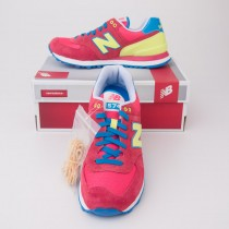 New Balance Carnival 574 Classics Running Shoes in Watermelon WL574BFW