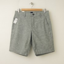 "NEW Gap Slub Flat Front 10"" Short in Mill Grey"