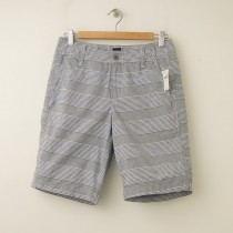 NEW Gap Multi-Stripe Sunfaded Shorts in Grey Stripe