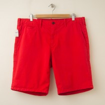 NEW Gap Lived-In Flat Front Short in Killer Tomato