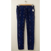 NEW Gap 1969 Snake Print Legging Jean Cords Corduroy Pants in Blue