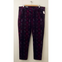 NEW Gap 1969 Snake Print Legging Jean Cords Corduroy Pants in Purple Print