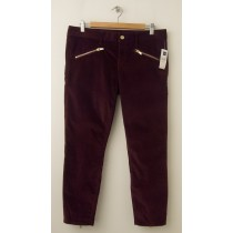 NEW Gap 1969 Velvet Always Skinny Skimmer Pants in Cherrywood
