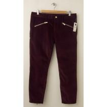 NEW Gap 1969 Velvet Always Skinny Skimmer Pants in Cherrywood
