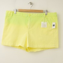 NEW Gap Women's Flat Front Neon Shorts in Bright Lemon Meringue