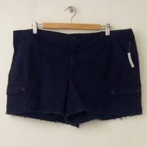 NEW Gap Women's Frayed Cargo Shorts in Navy Uniform