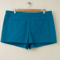NEW Gap Women's Canvas Clean Front Shorts in Dynasty Turquoise