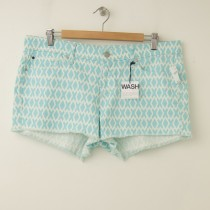 NEW Gap 1969 Printed Summer Cut-Offs Denim Maddie Shorts Dockside Blue