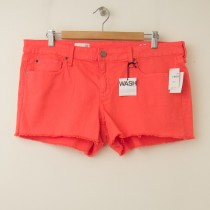 NEW Gap 1969 Summer Cut-Offs Denim Maddie Shorts Coral Bells