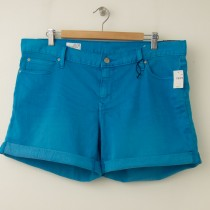 NEW Gap 1969 Sexy Boyfriend Denim Hemmin Shorts in Surf Pipe Blue