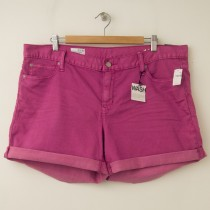 NEW Gap 1969 Sexy Boyfriend Denim Hemmin Shorts in Fuchsia